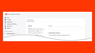 Real Time Shipping Quotes for Shopify Quote Settings