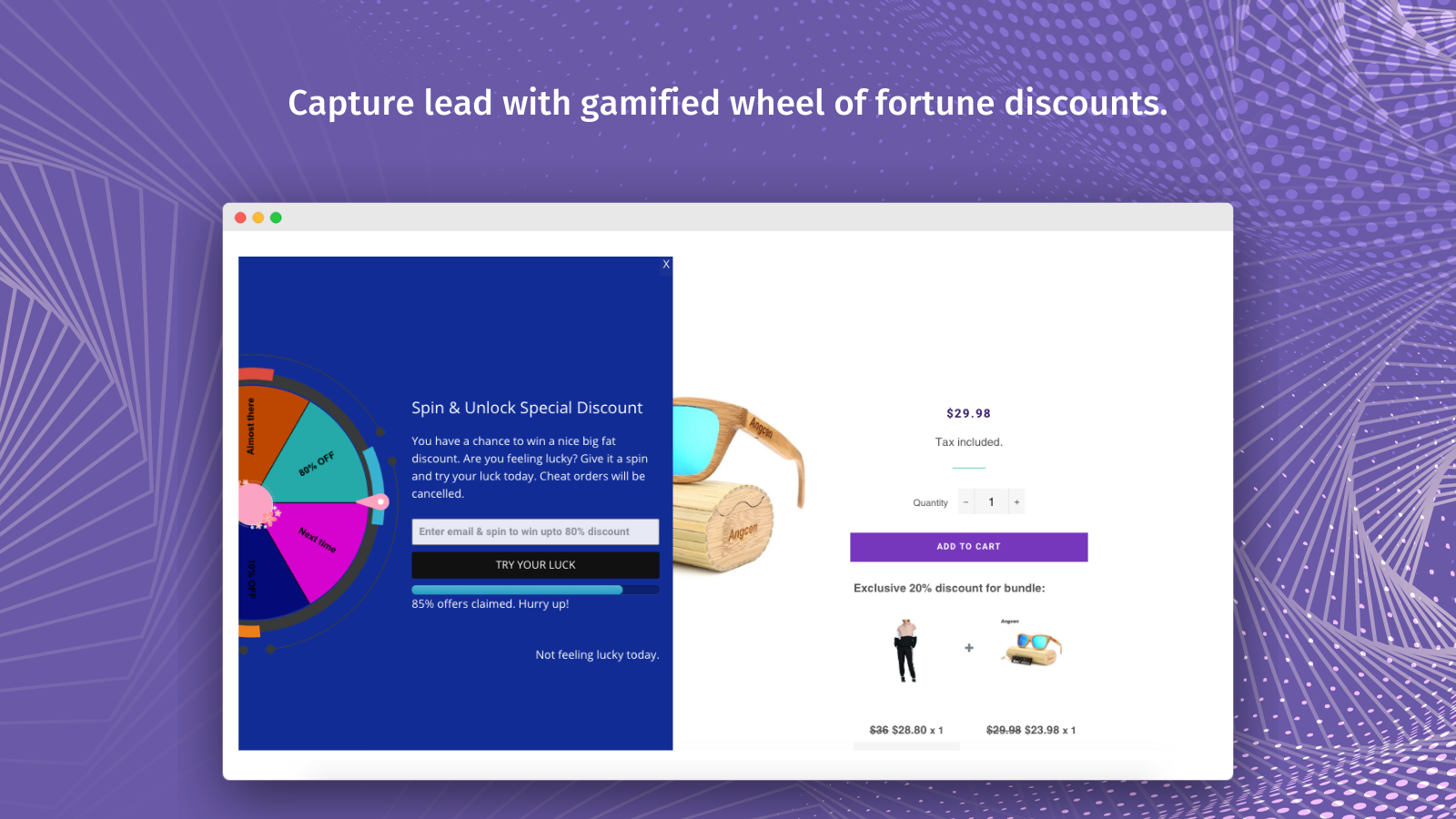 Spin To Win – Wheel Of Fortune – Collect Emails