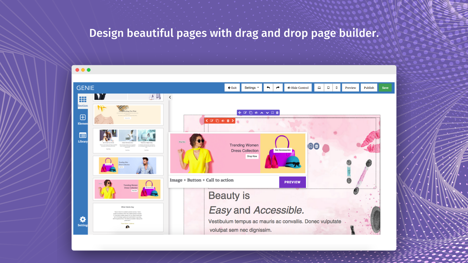 Easy To Use Landing Page and Product Page Builder
