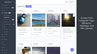 Curate From Instagram Tags, Mentions, Hashtags, and Site Uploads