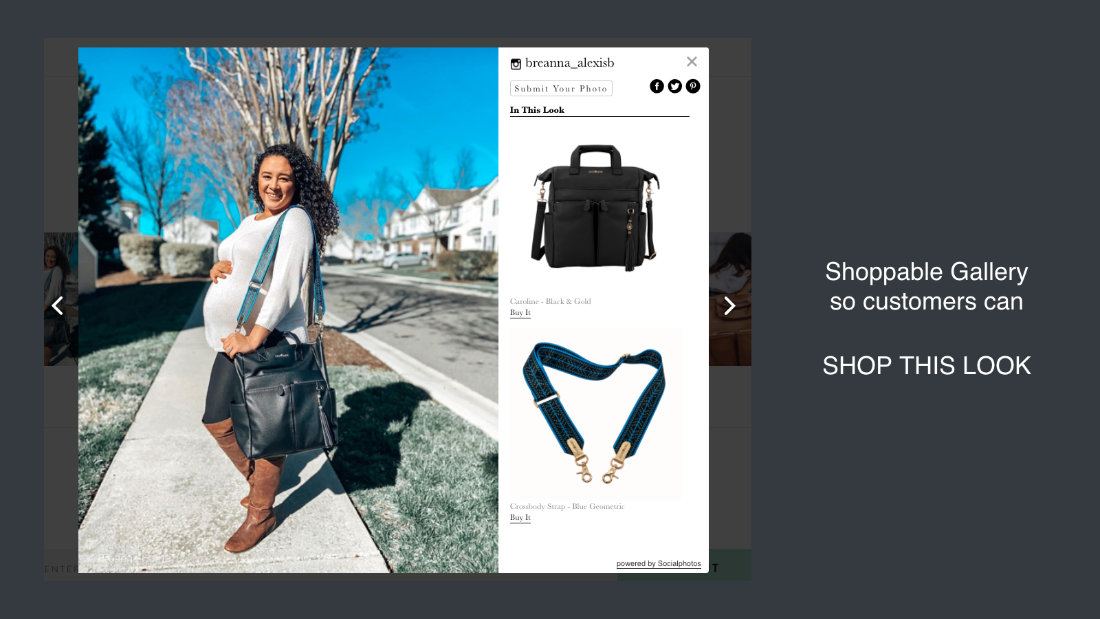 Shoppable gallery so customers can SHOP THIS LOOK