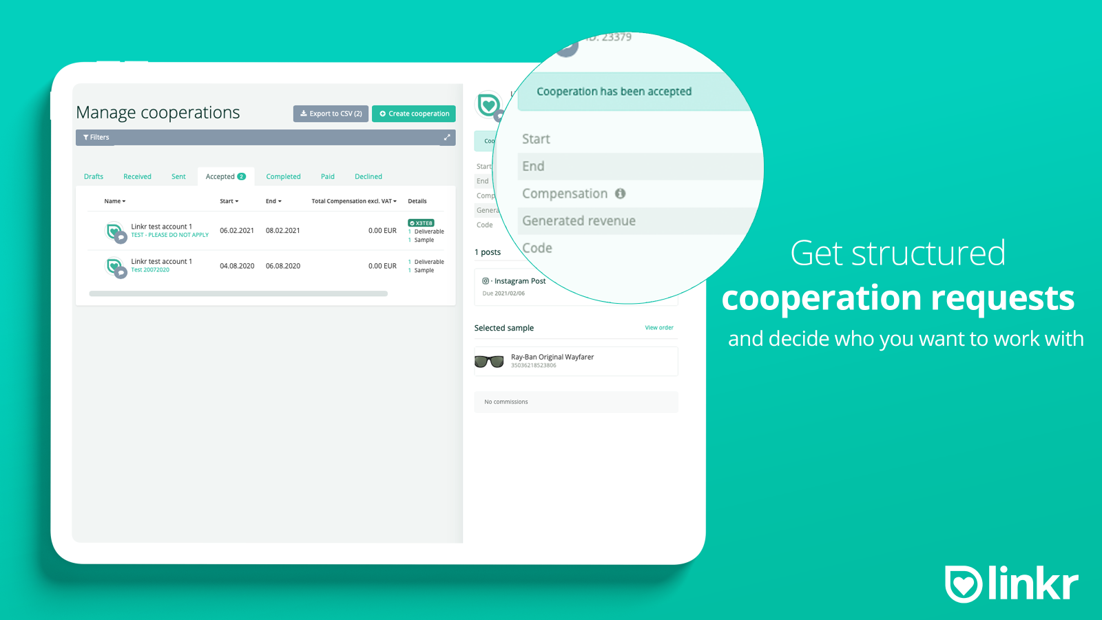 Manage Cooperations