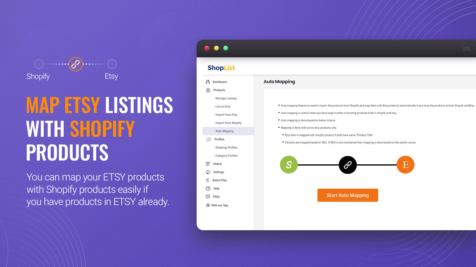 Map Etsy products with Shopify products -  - Etsy Integration
