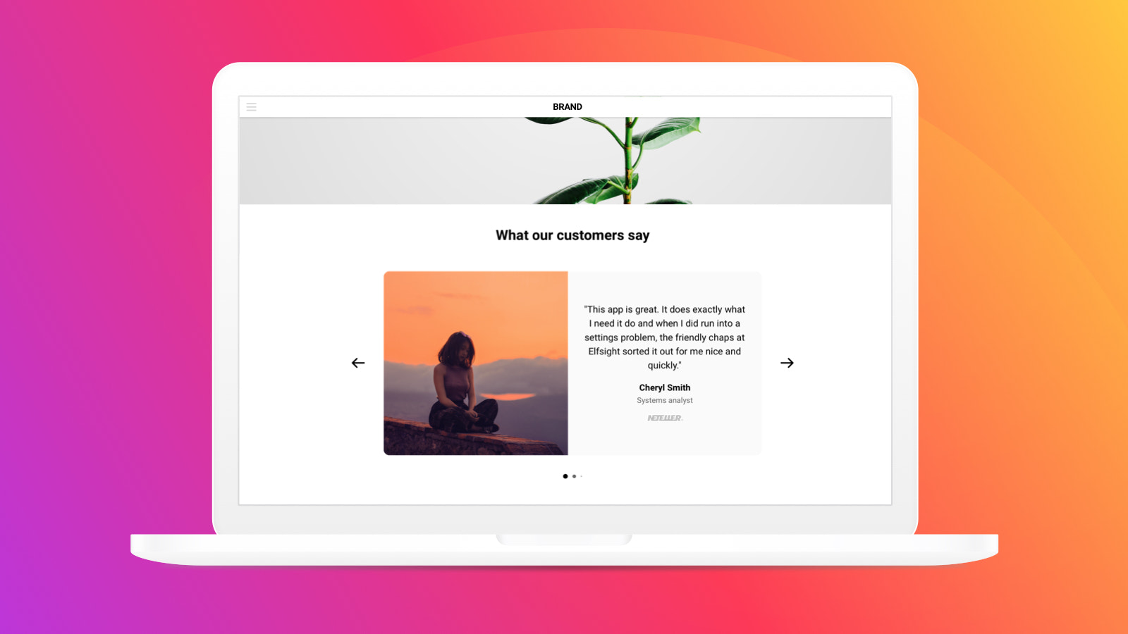 Looking minimalistic, the widget fits any website design