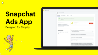 Snapchat Ads App, designed for Shopify merchants