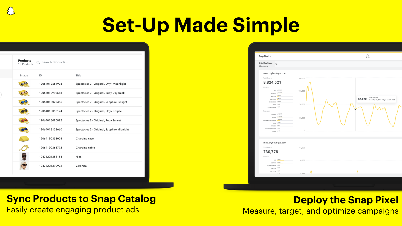 Deploy Snap Pixel and sync products to Snap Catalog