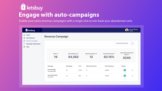Engage with auto-campaigns to win back your abandoned carts