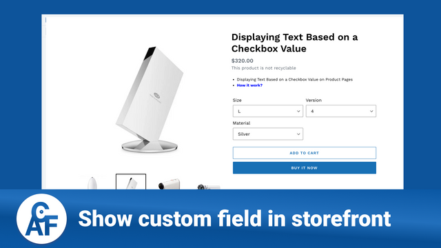 Show custom field in storefront