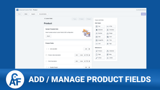 Add Product Fields