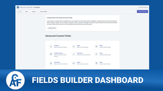 Field Builder Dashboard