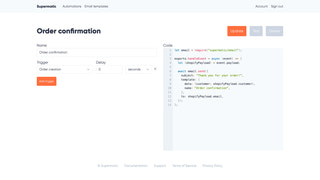 A minimal automation for sending an order confirmation