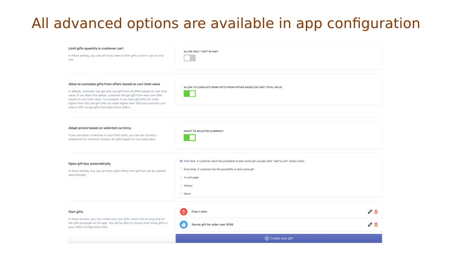 You can use advanced options in app configuration
