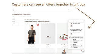 Customers can see all offers together in gift box