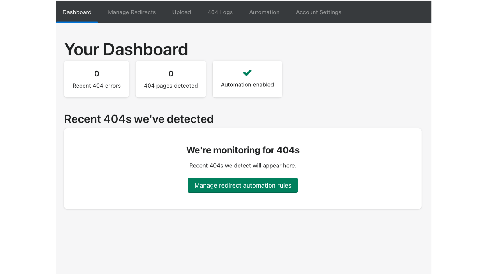 Reporting Dashboard of Broken Links Automatically Fixed
