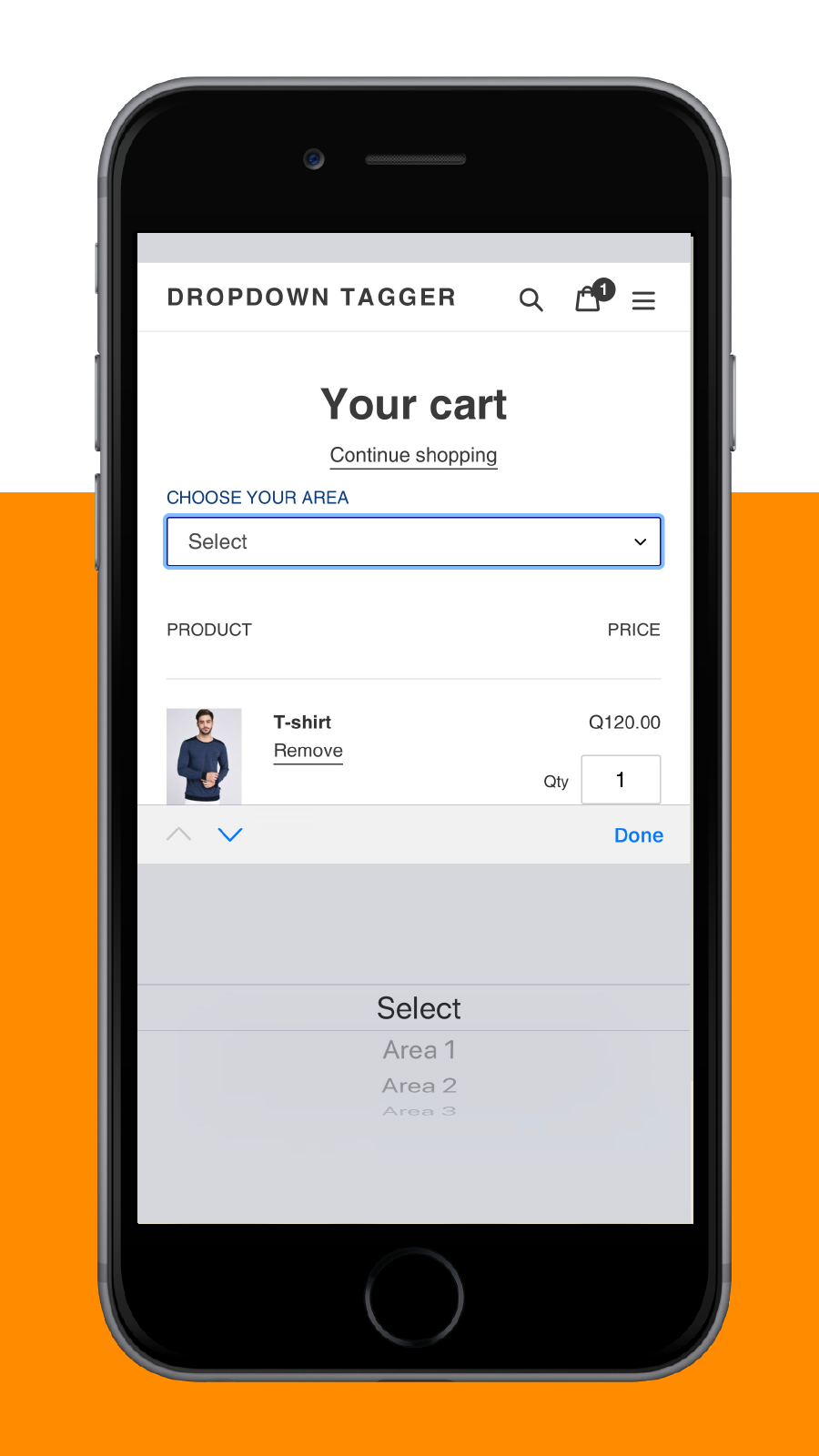 list in cart mobile view