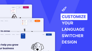 Customize your language switcher to fit your store design