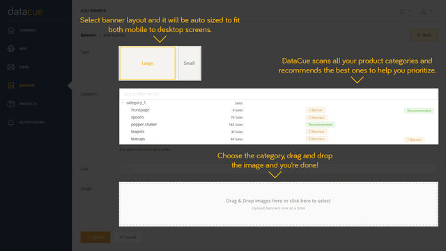 Upload banners easily