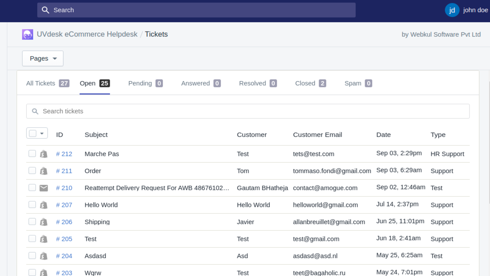 Shopify Helpdesk Admin Ticket View