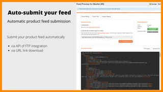 product feed management tool, CSV XML TXT product feed