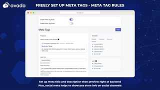 Optimize meta tags: meta title and meta description