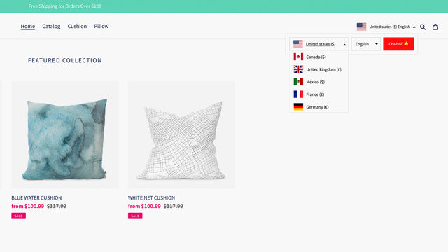 Shopify App - Translate My Store by Hextom Currency Selector