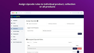 Shopify ZipCode Validation Assign Rules
