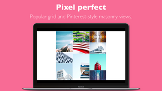 Popular grid and Pinterest-style masonry image gallery view