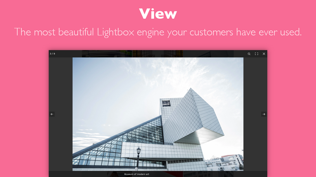 The most beautiful Lightbox engine your customers have seen.