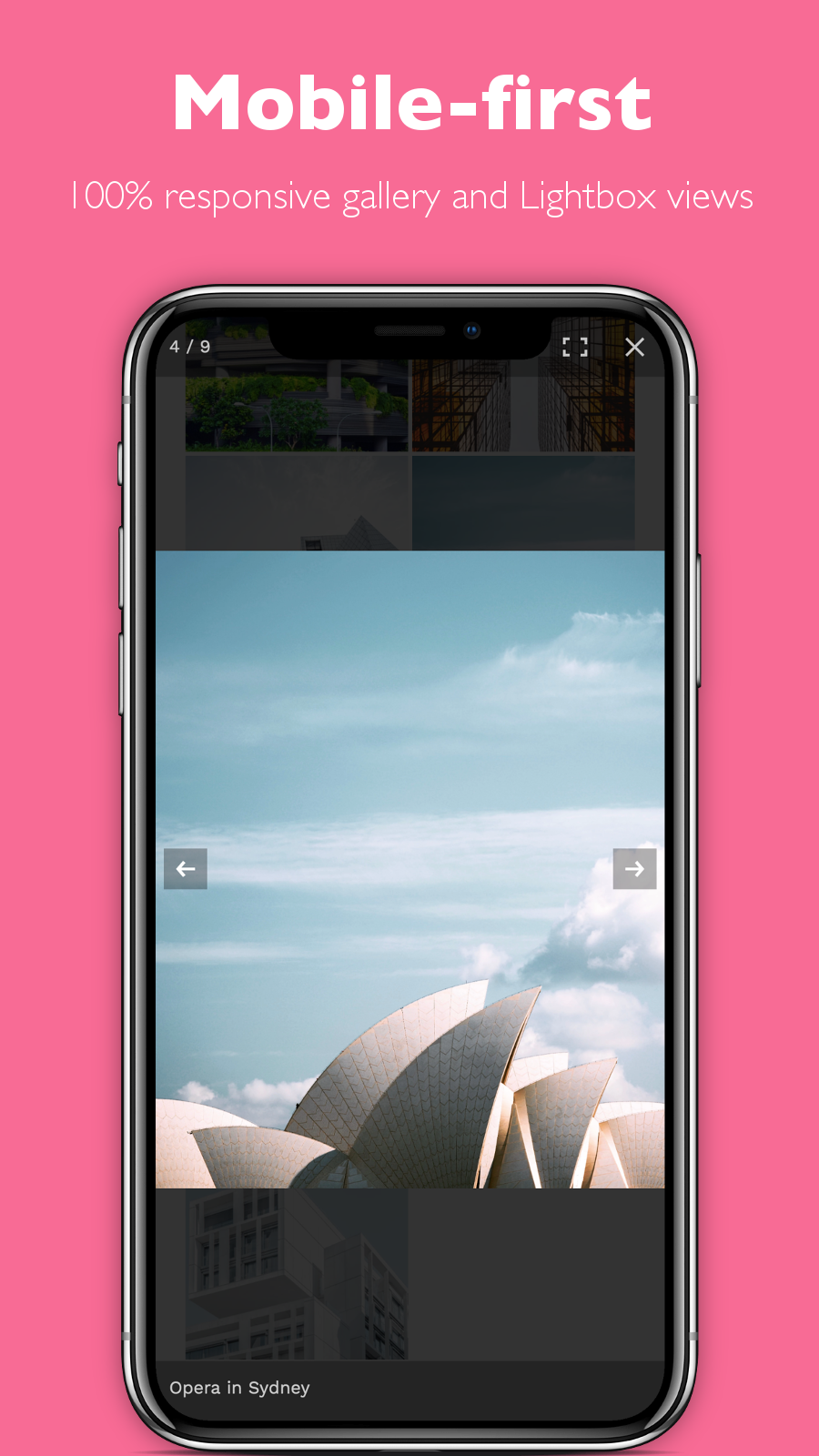 Fully responsive photo gallery and Lightbox views