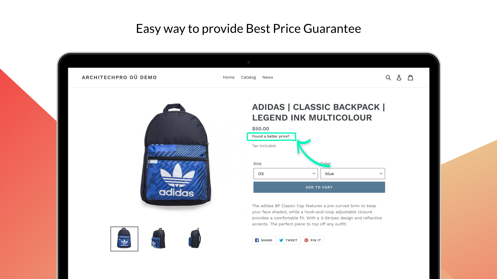 Best Price Guarantee link (button)