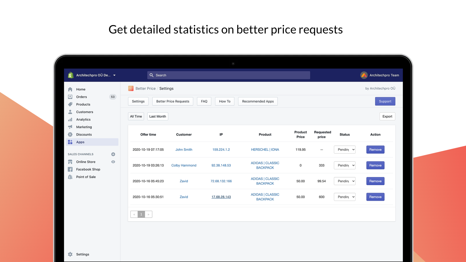 Better Price requests list is available in admin
