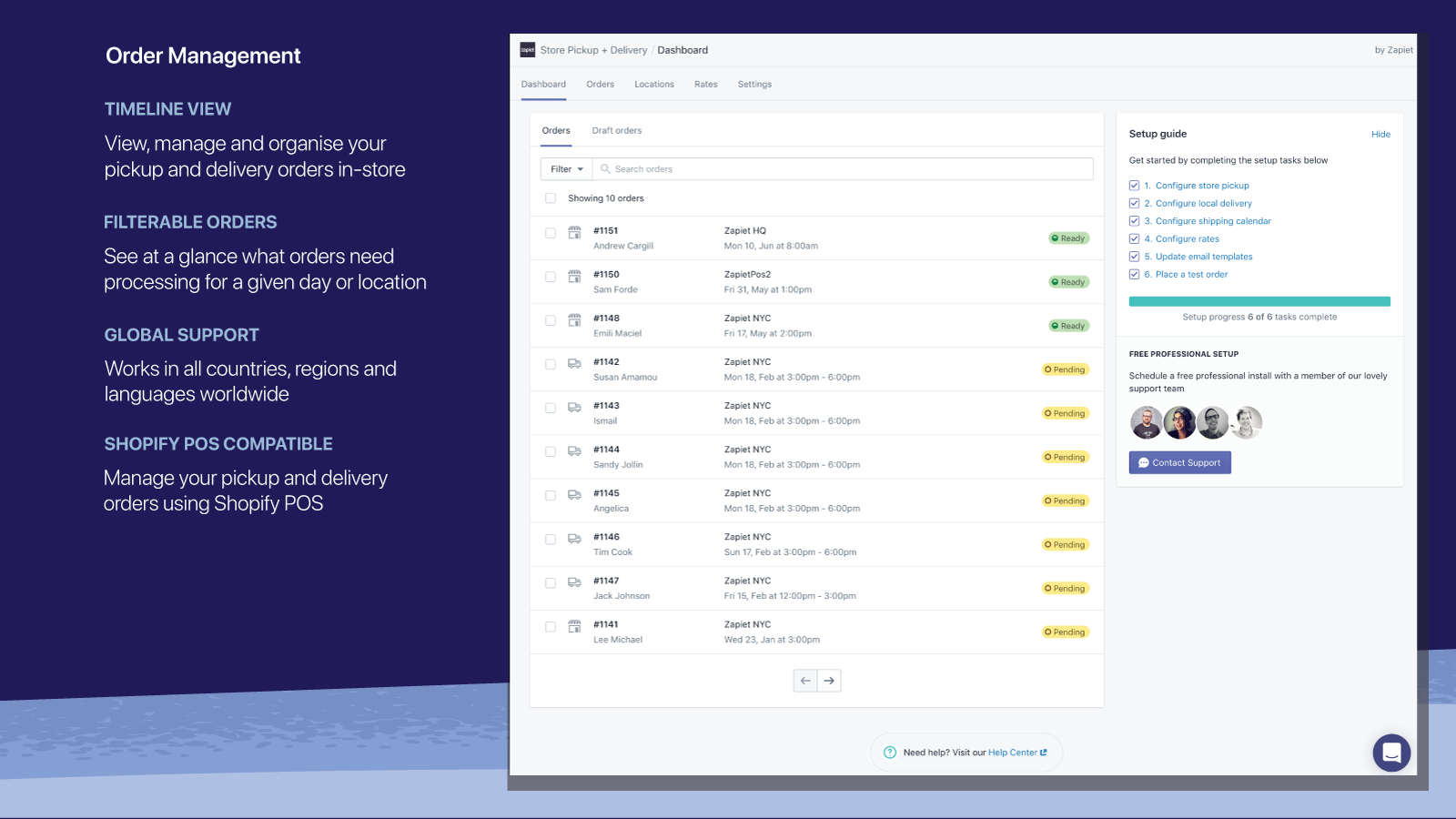 Manage your store pickup and local delivery orders using Zapiet