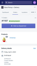 Manage delivery date and pickup dates using your mobile