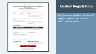 Customize Shop Registration