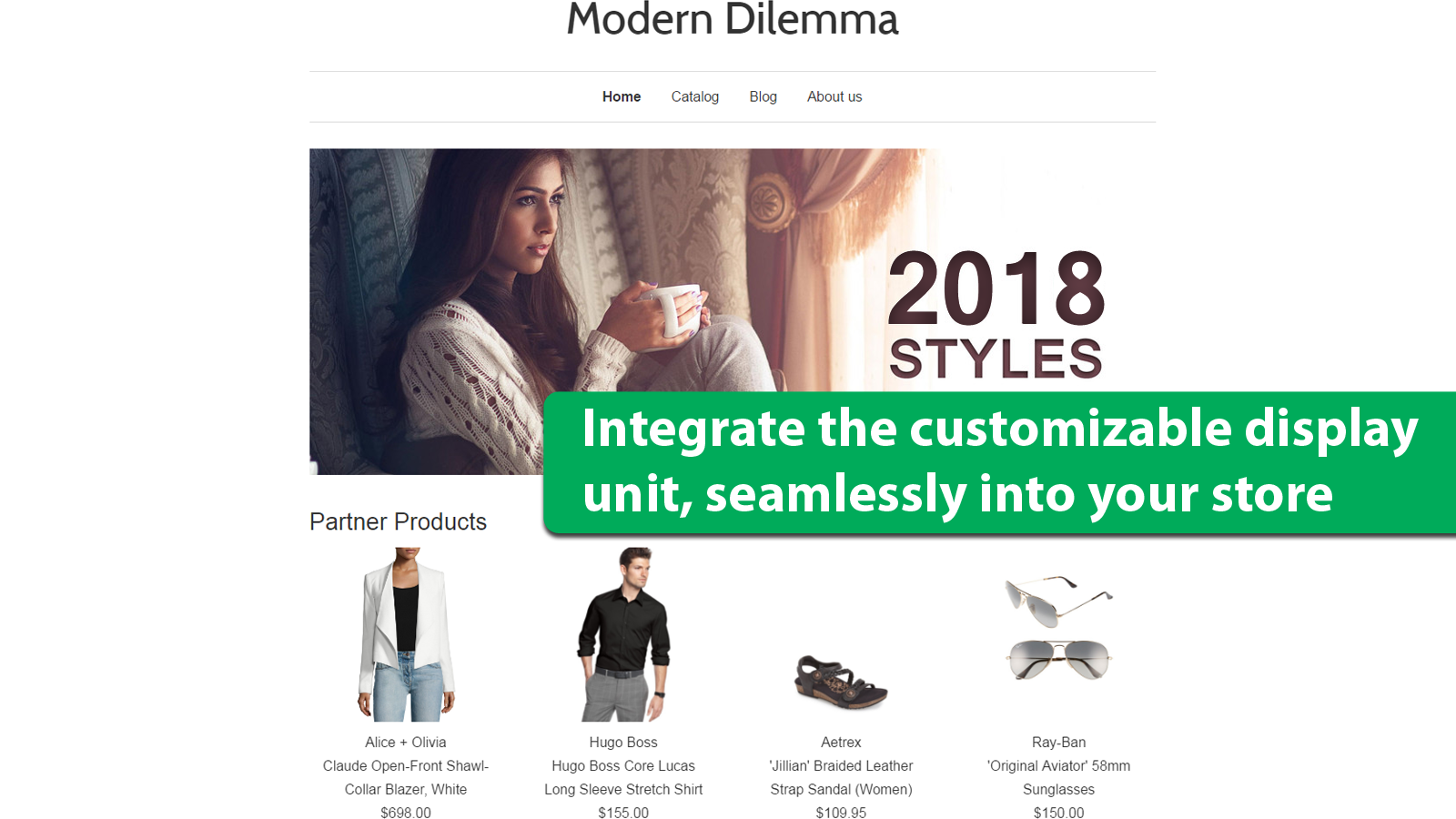 Integrate customizable display unit, seamlessly into your store