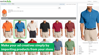 Make your ad creatives by importing products from your store