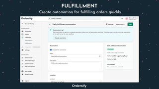 Fulfillment - Create automation for fulfilling orders