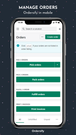 Manage orders - Ordersify in mobile