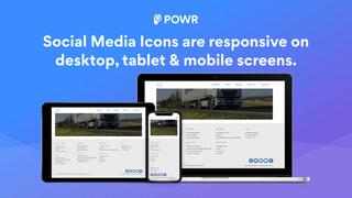 Social Media Icons are responsive on Desktop, Table, & Mobile