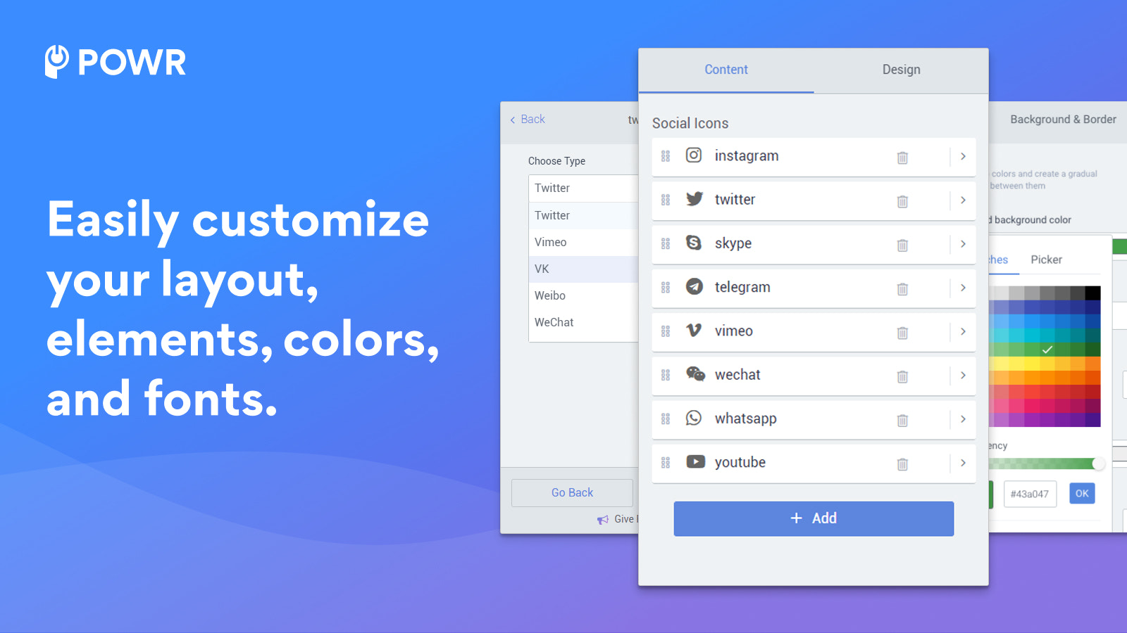 Customize elements to create your perfect icons