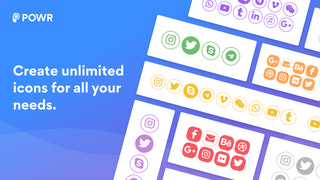 Create unlimited icons for all your needs!