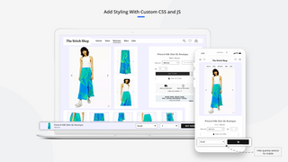 add custom styling with custom css and js