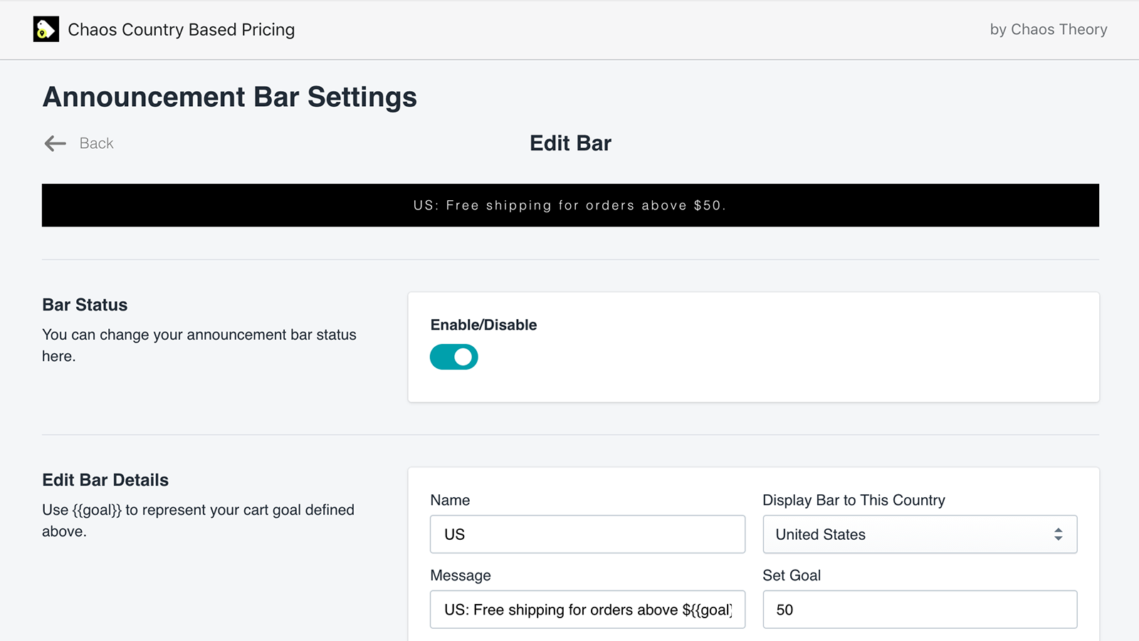 announcement-bar-settings-country-based-pricing