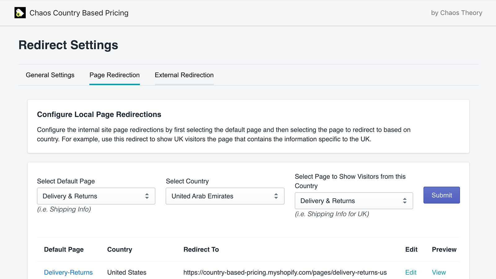 page-redirect-settings-country-based-pricing