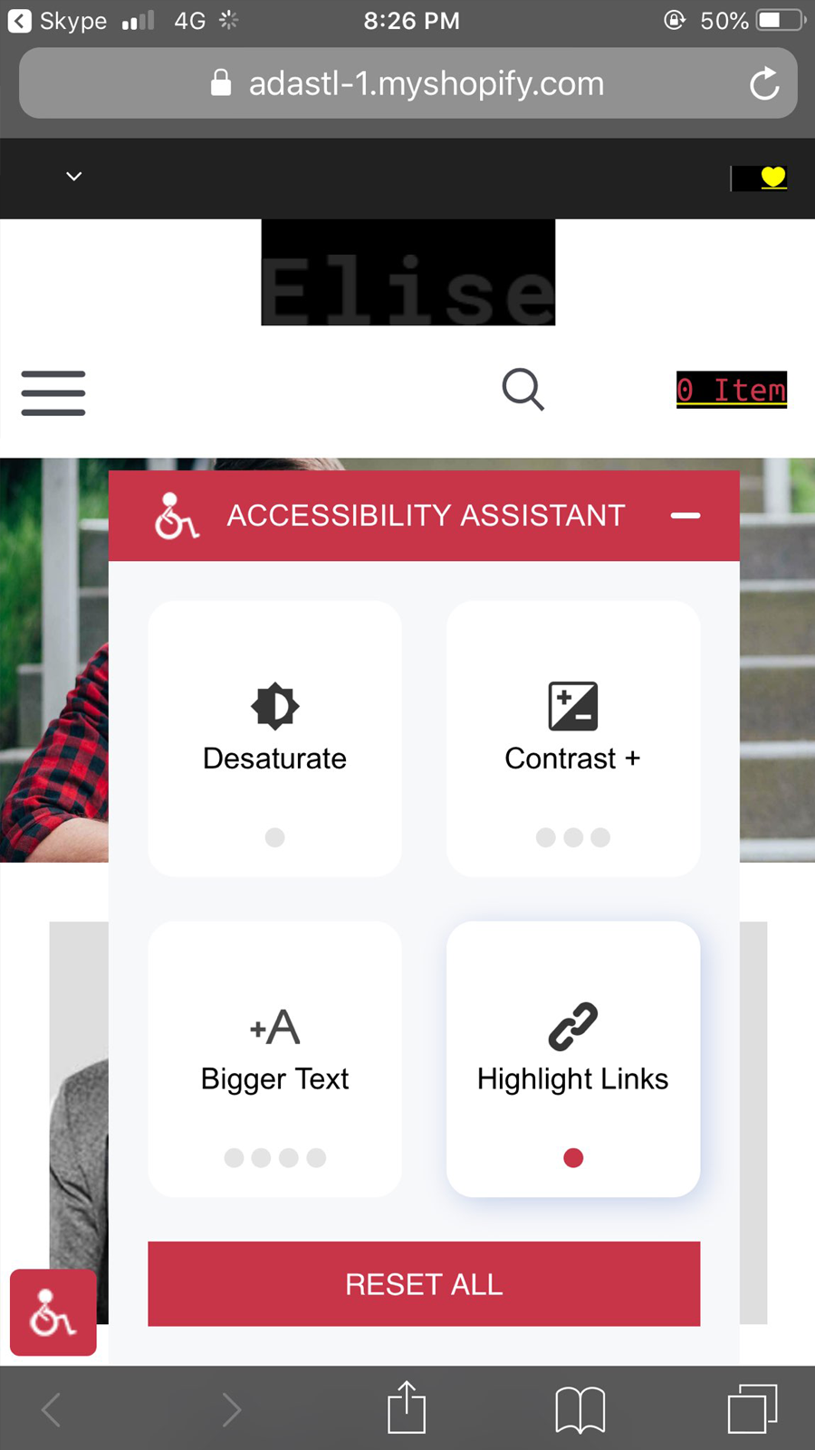 Accessibility Assist Highlight Links