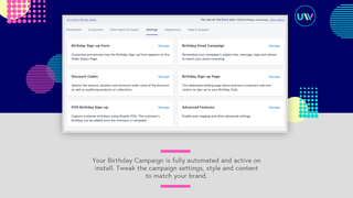 Fully customisable birthday campaign