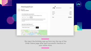 Track and analyse Birthday Campaign activity and conversions