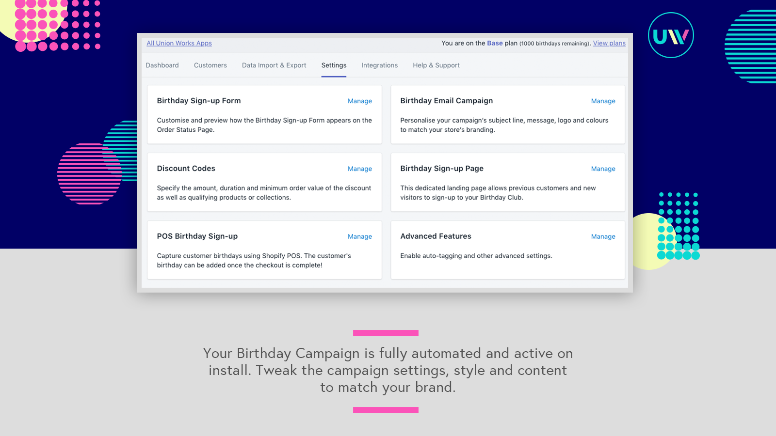 customise your campaign
