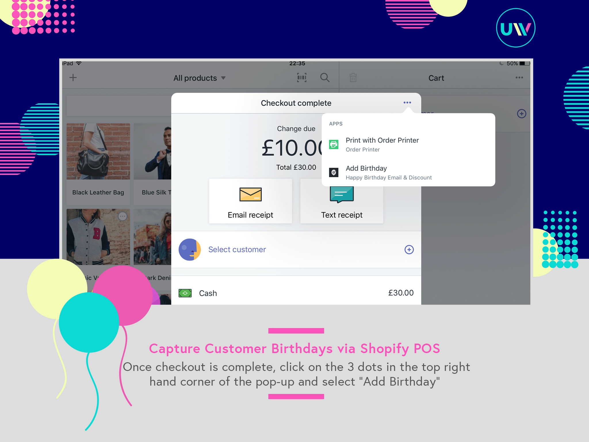 Add the Customer's Birthday once checkout is complete