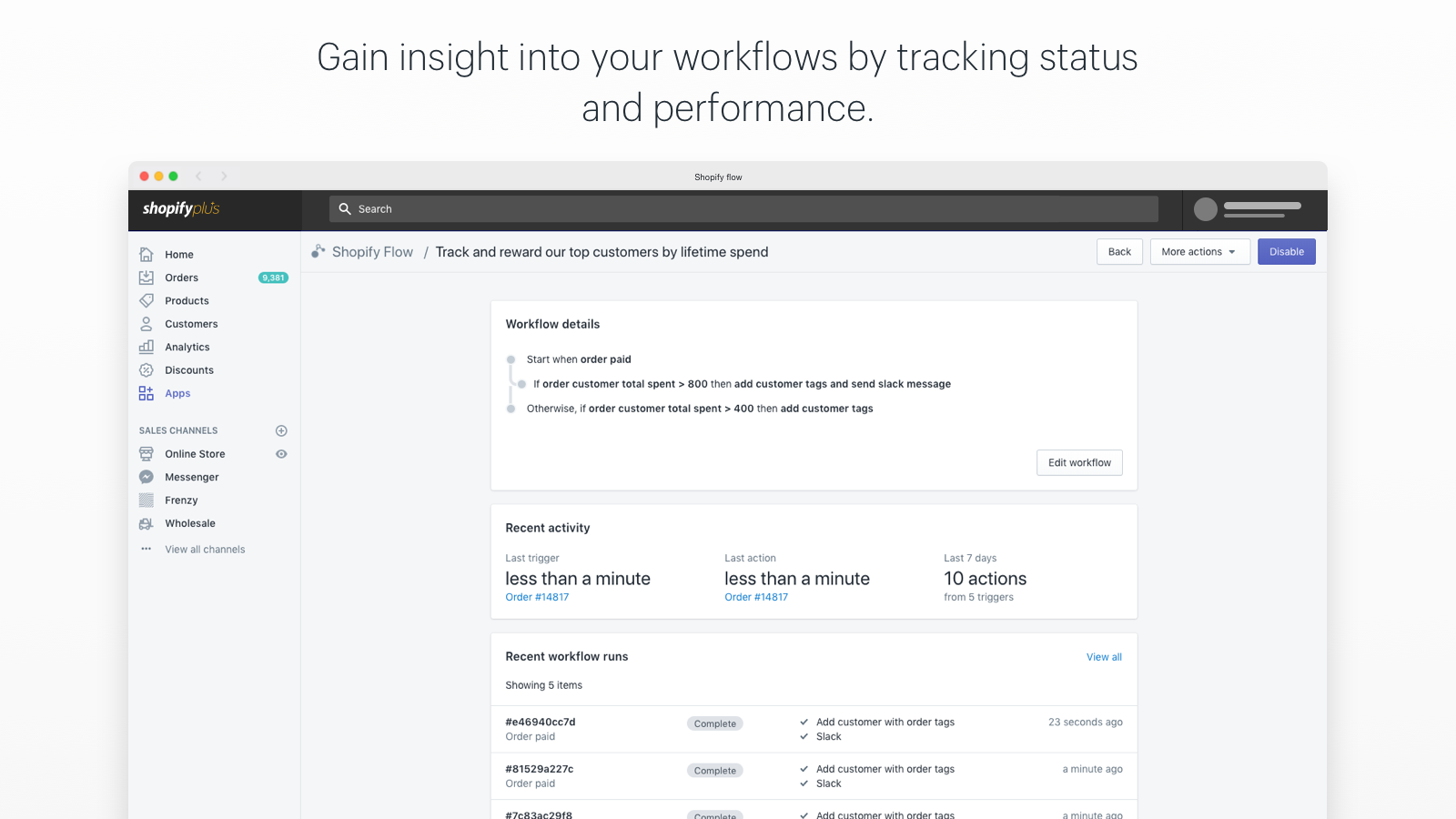 Reduce the steps and resources required to complete workflows